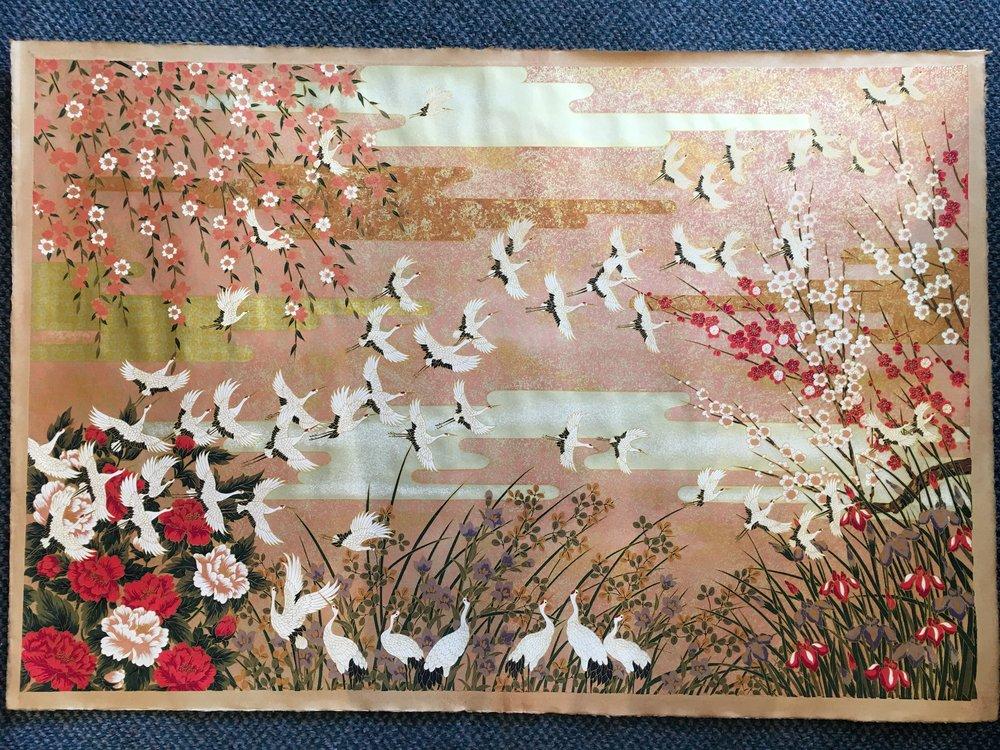 Tsuru Flowers Kakishibu (Brown)