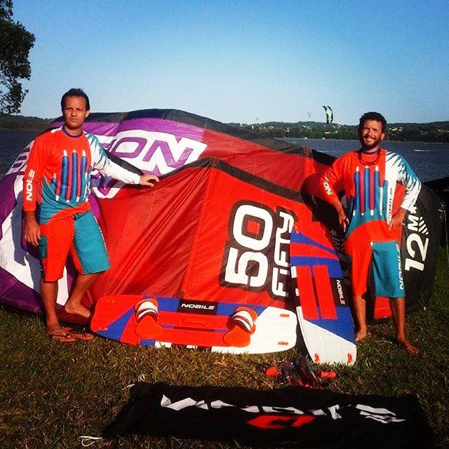 Gracias NOBILE ARGENTINA por el apoyo con los equipos para el kite trip! Gran dia en #portojerivá