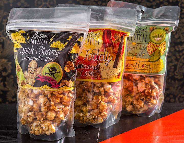 Bags on bags of caramel corn