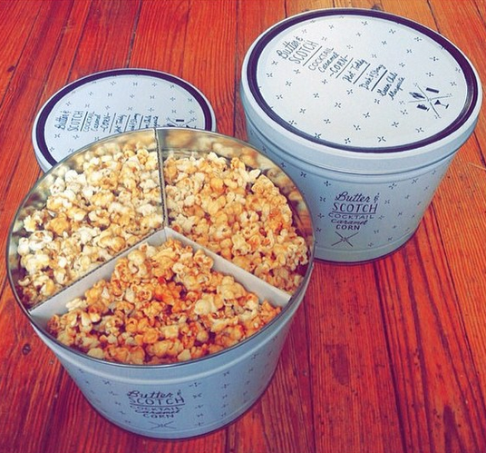 Caramel corn tins: three delicious flavors