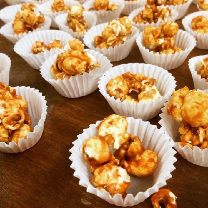 caramel corn samples