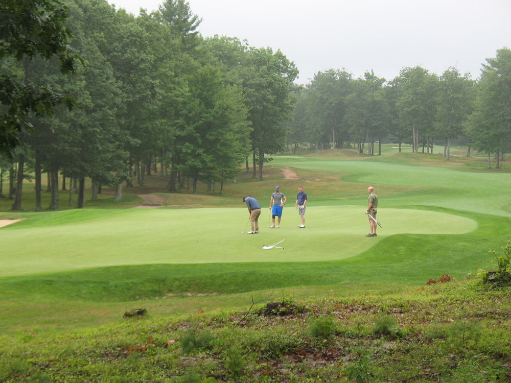 The misty morning didn't dampen golfers' enthusiasm