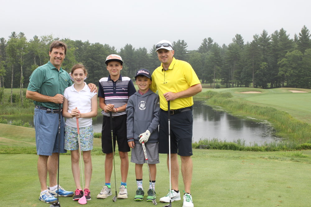 The O'Quinn family is all smiles at the 1st Annual ChildVoice Golf Tournament.