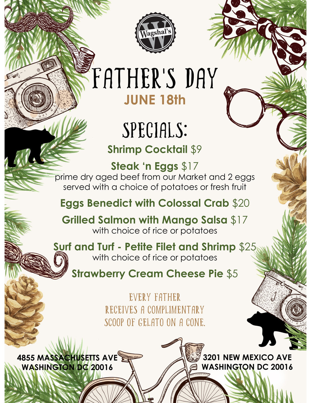 Treat Dad to brunch & gelato! -