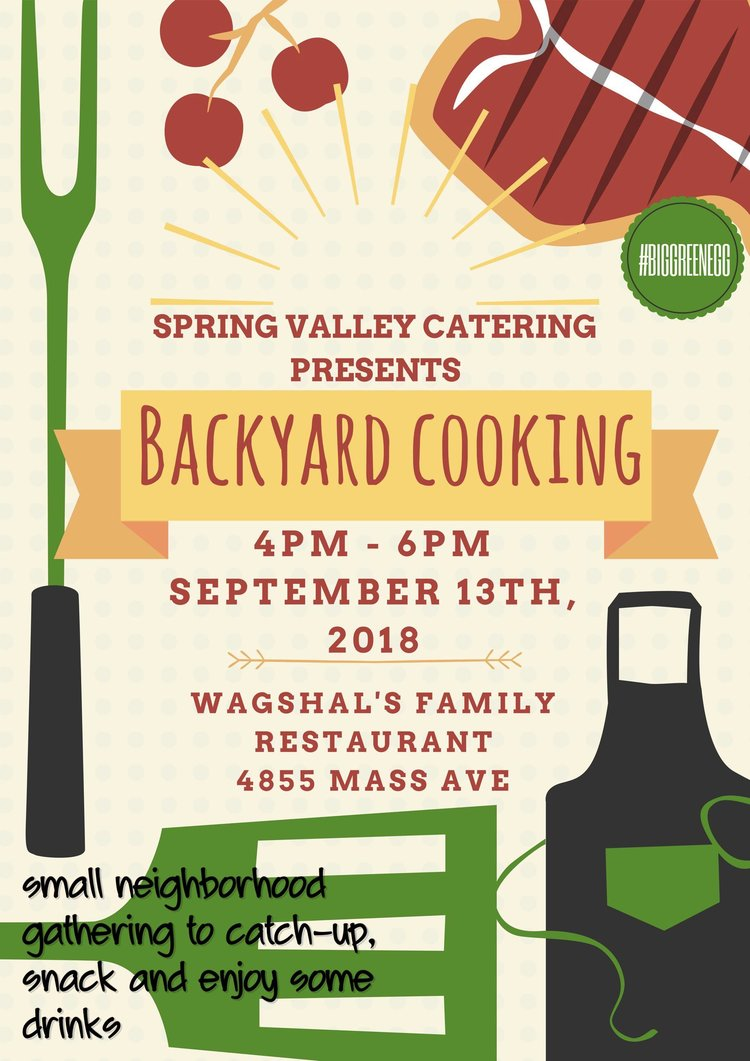 spring valley catering backyard cooking u2014 wagshals