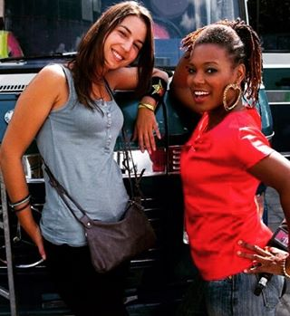 Memories of my #tvgirl days. With one of the #mtvfrance production #queens Christina Fontes. The kindness and efficiency of this lady right here! 🙌🏾 I mean she would have to deal with my #partygorl ways 😎 Make sure everyone was on time ( especially me ) and prepared ☀ She always keeps a smile 👏🏾 Miss seeing her I really learned a lot by her side 💗 #throwback #mtvvj #mtv Photo : Damien Bardot