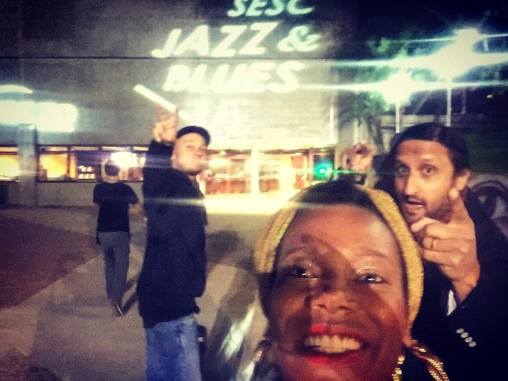 Team 🇧🇷💚 #sescbauru #jazzeblues #brasil #singerontheroad #lastnight