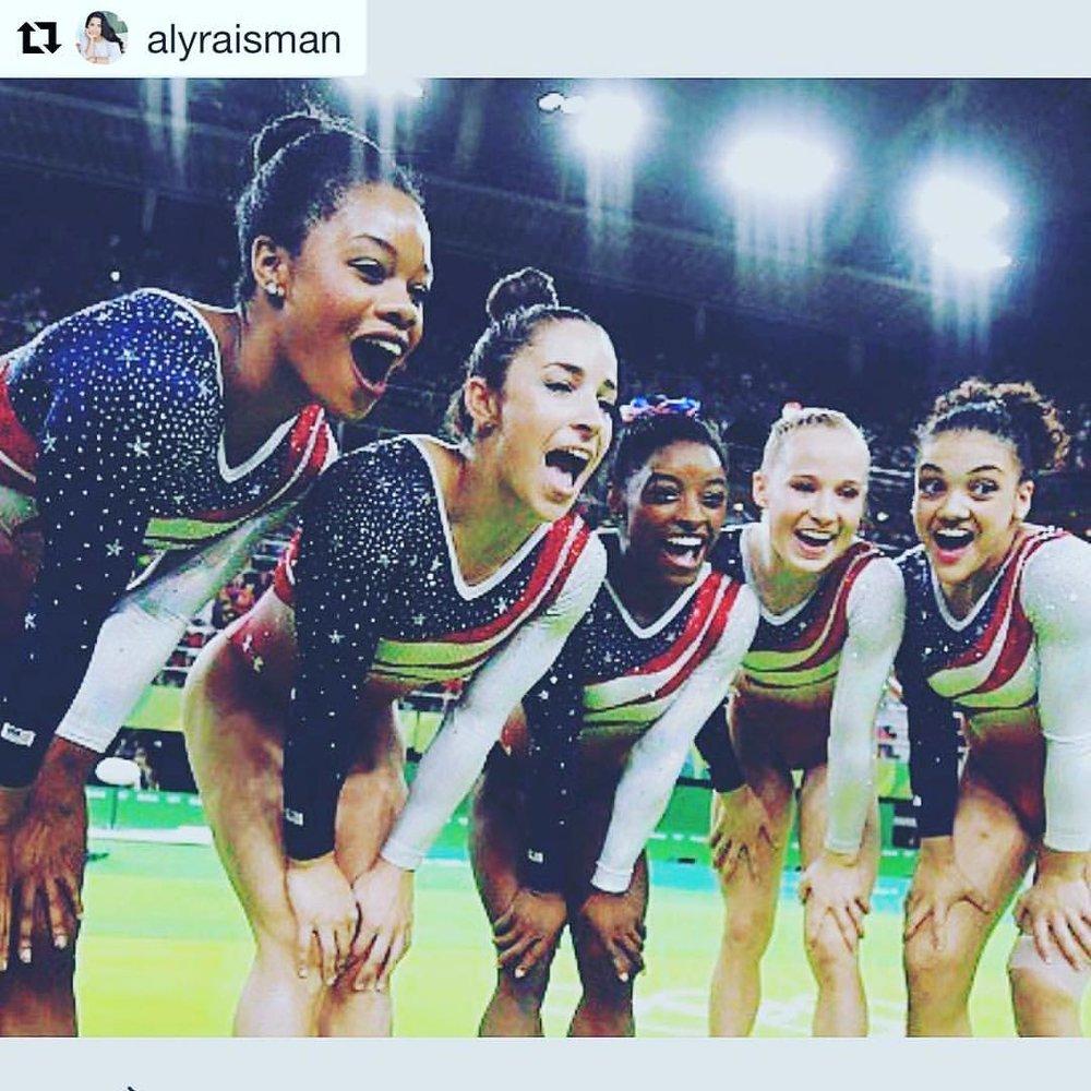 The fantastic five 🏅💚 #inspiration #squadgoals #gymnastics #flygirls #fightlikeagirl