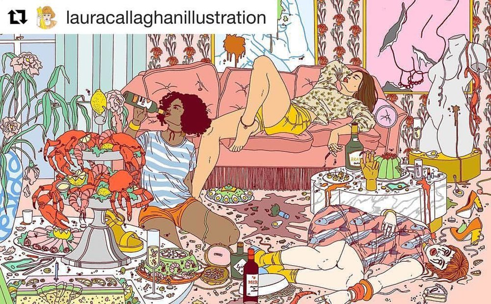My kind of party. #Repost @lauracallaghanillustration ・・・ #lauracallaghanillustration