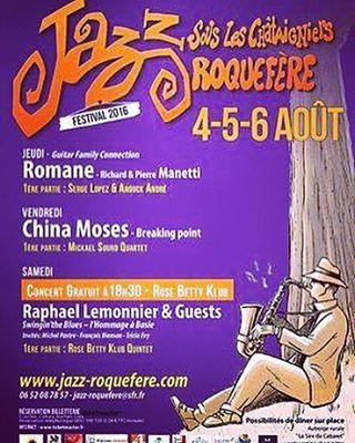 II Prochain concert II Roquefere Ce Vendredi 05 Aout (Prés de Carcassonne) #jazzsousleschataigniers #france (at Roquefère)
