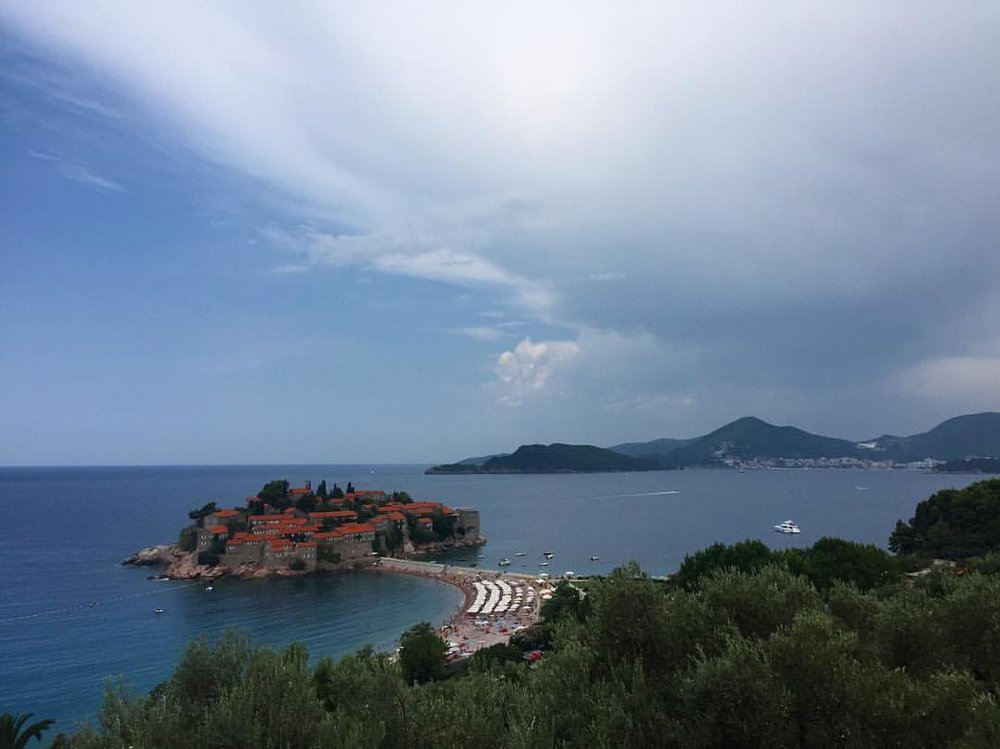 This view. 💗 #resting #singerontheroad #montenegro  (at Beach Sveti Stefan, Montenegro)