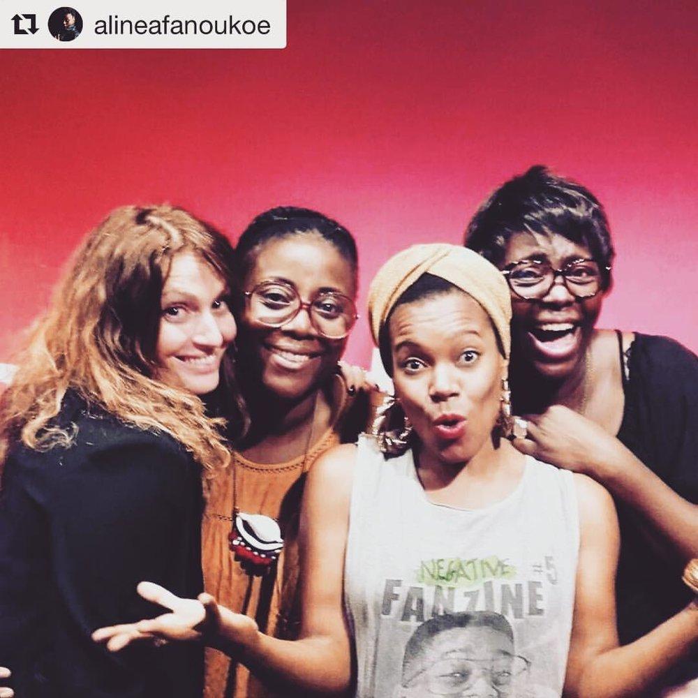 #ladiesnight with @alineafanoukoe and @aureliesaada on #franceinter #soireesdelete #Repost @alineafanoukoe  ・・・  #aboutlastnight @brigittedefrance  @aureliesaada versus @chinamoses dans les soirées de l'été sur @franceinter #live #talk #music #bubbles #direct tous les samedis et dimanches de 21h à minuit cet été ! #joie (at France Inter)