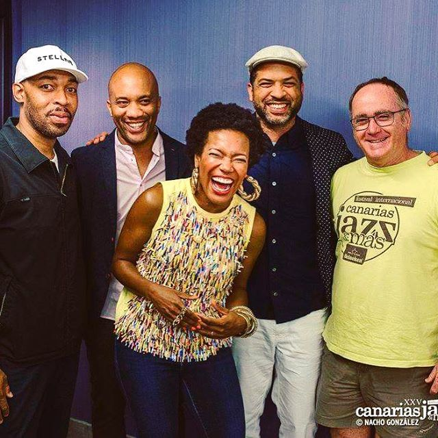 II Beautiful Musical Spirits II @ericharland #reubenrogers @thejasonmoran and the programmer of the #canariasjazz Miguel #laspalmas #grancanaria #icouldnotnothaveapicturewiththeseguys #charleslloydnewquartet