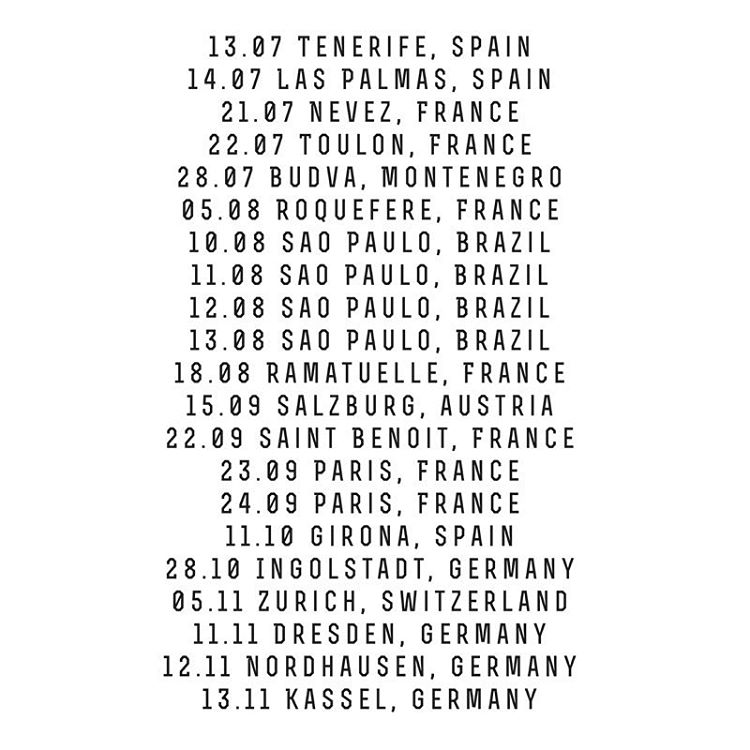 II Concert dates II                 Let's meet somewhere in the world  🌍🤘🏽🎤                #spreadlove #musicismyreligion #nightintales #singerontheroad