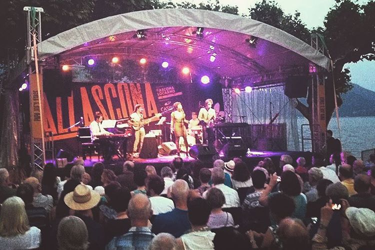 Last night. On stage. #jazzascona #raphaellemonnier #lukewynter #marijusaleksa #luigigrasso  (at JazzAscona)
