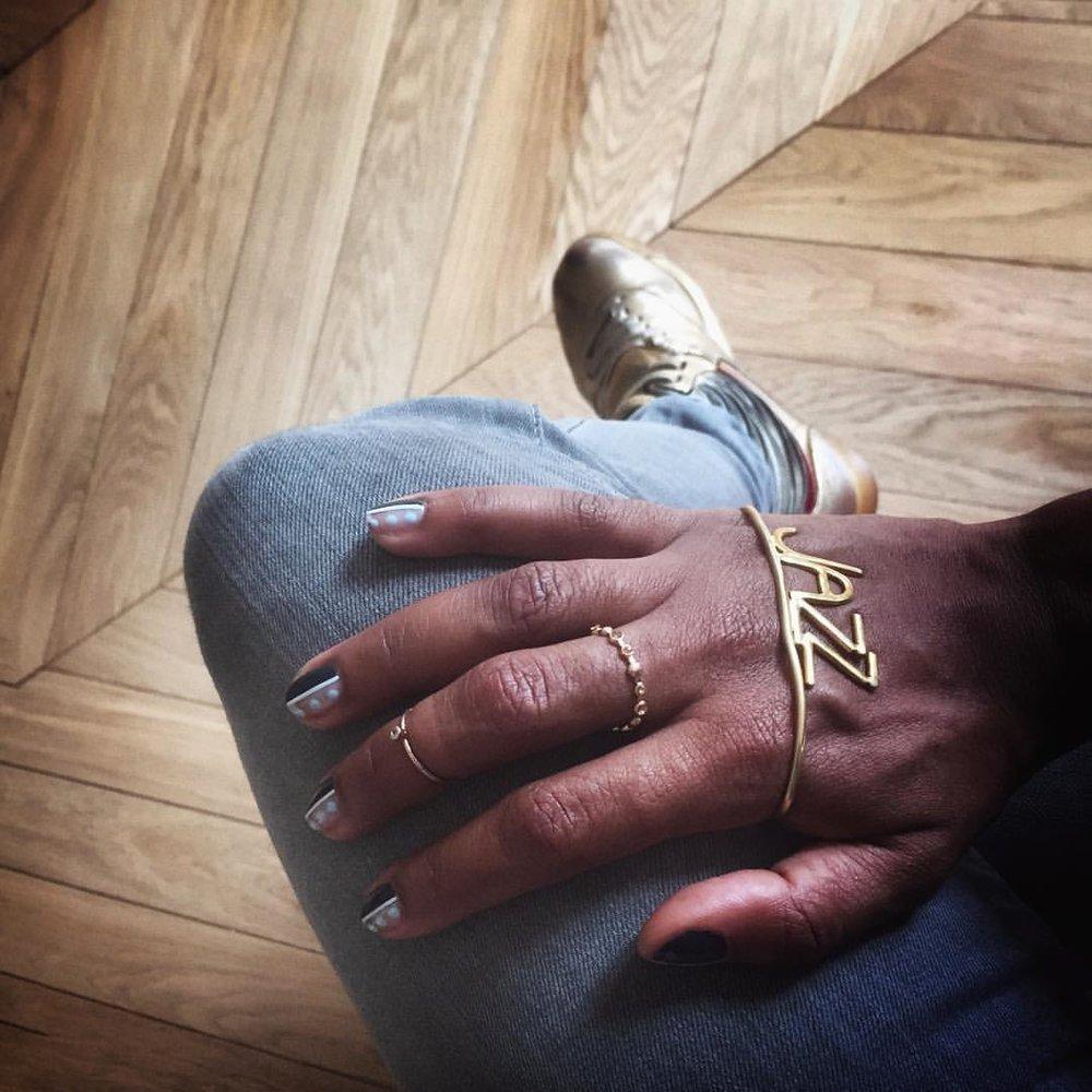 #jazz + #nailart = 💗 @thisisvenice @fishbone_design  #handpaintednailart