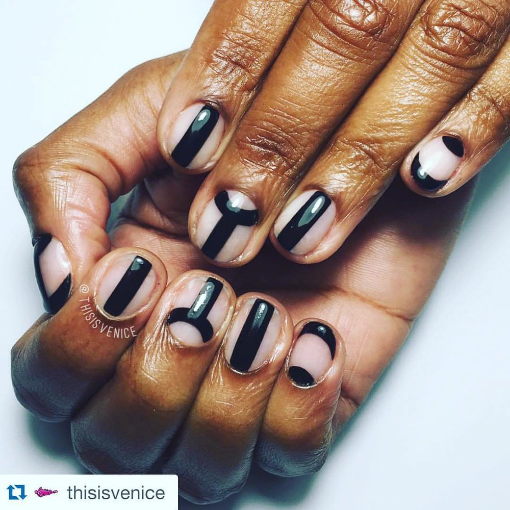 #Repost @thisisvenice with @repostapp ・・・  China @chinamoses , YOU GOT PIMPED !!  Inspired by @vanityprojects #ThisisVenice #NailArt #PimpMyNails #GelNailArt #NailArtParis #HandPainted (à This Is Venice - Salon)