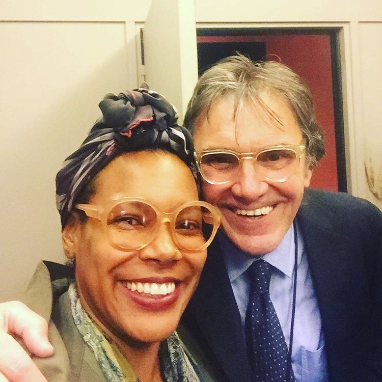 """Because of them: Bernard #marcusmiller manager and business partner. I told him """"everybody always wants a picture with Marcus… It's so déjà vu 😎"""" #luckygirl #livemusic #concert #paris #backstage (à L'Olympia)"""