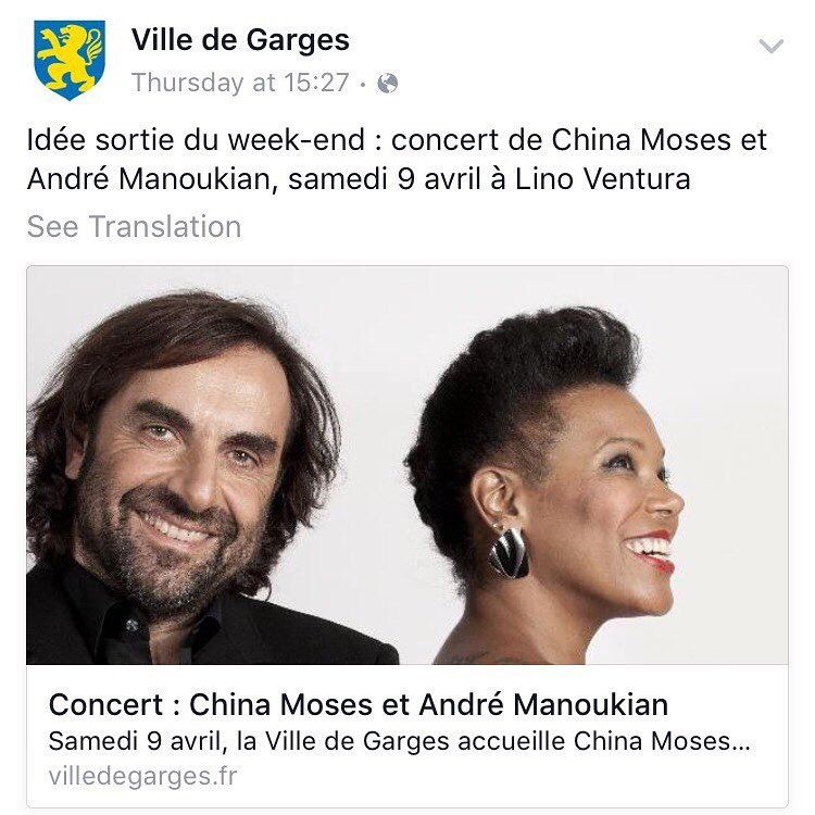 This is so special! 🎤💗 Kinda of like return of the #banlieusarde 😎  #gargeslesgonesse #homecoming #95 #andremanoukian #jazzlovers