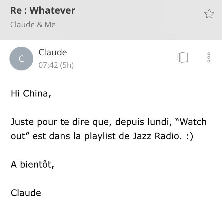 🙌🏾🙏🏾 #jazzradio added #Watchout to their playlist💗🖖🏾#whateverEp #soul #jazz #vocaljazz Merci Claude Zennaro et Benoît Thuret! http://goo.gl/yG8vHG #ontheradio