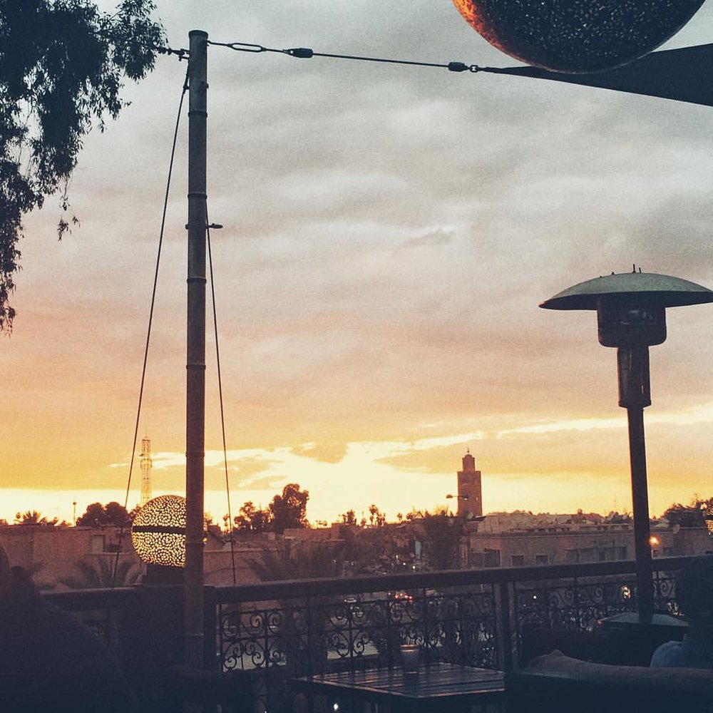 #Marrakech #singerontheroad #Morocco #dusk