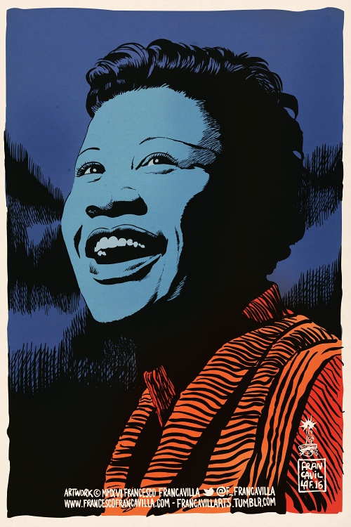 francavillarts :      ~~ ELLA FITZGERALD ~~   Art by Francesco Francavilla     First Lady of Song, Queen of Jazz, First African-American woman to win a Grammy Award # BlackHistoryMonth #Day7   Cheers, FF