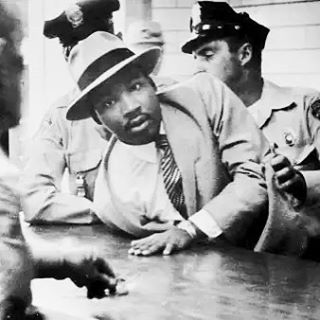 """The ultimate measure of a man is not where he stands in moments of comfort and convenience, but where he stands at times of challenge and controversy."" - #mlk #drmartinlutherkingjr 📷 #alabama #1958 arrested for loitering"