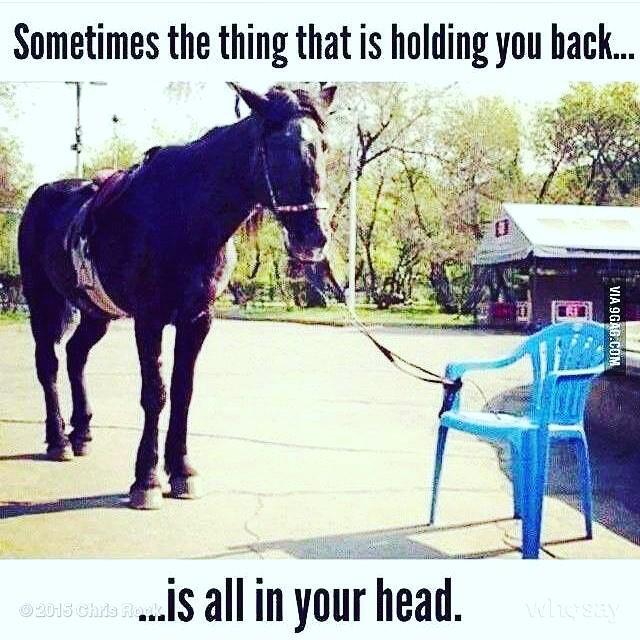 Sometimes the thing holding you back… Via #chrisrock