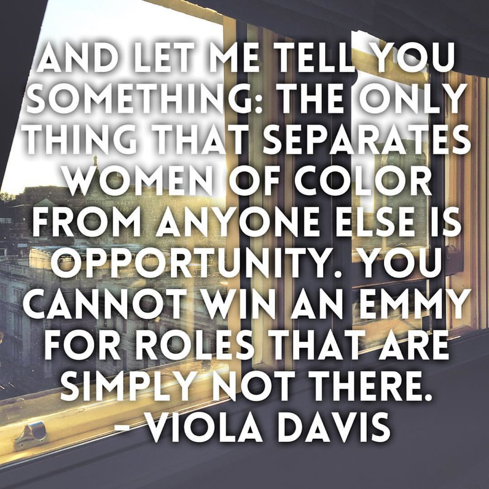 #mood #violadavis When they showed the emotion and the sisterhood that was in that audience… We can change things. #artwithintention