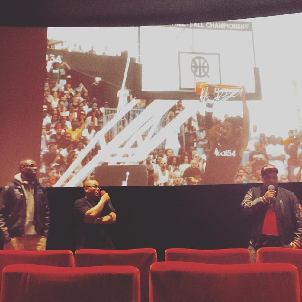At the screening of the beautifully crafted film of #quai54 #quai54wsc 2015 @quai54wsc Amazing movie and I don't even care for #basketball like that! #streetbasketball #paris #france These guys are really on to something www.quai54.com 👏🏾👏🏾👏🏾👏🏾👏🏾👏🏾👏🏾👏🏾👏🏾👏🏾👏🏾👏🏾 @360_creative #bringyourgamenotyourname #frenchmusicproducers #madeinfrance #thefranceofcolor (à MK2 Quai de Seine)