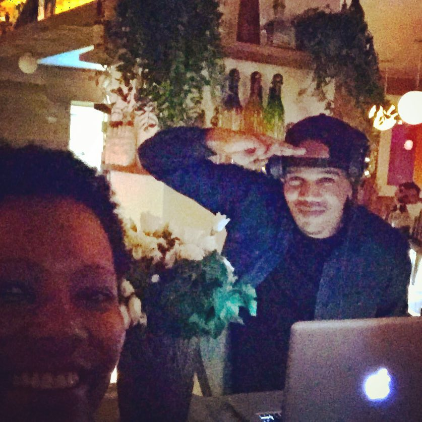Saturday night out #paris and I run into one of my favorite #dj 's @deejay_jacks #ledepanneurterasse #latenight #wheretohang