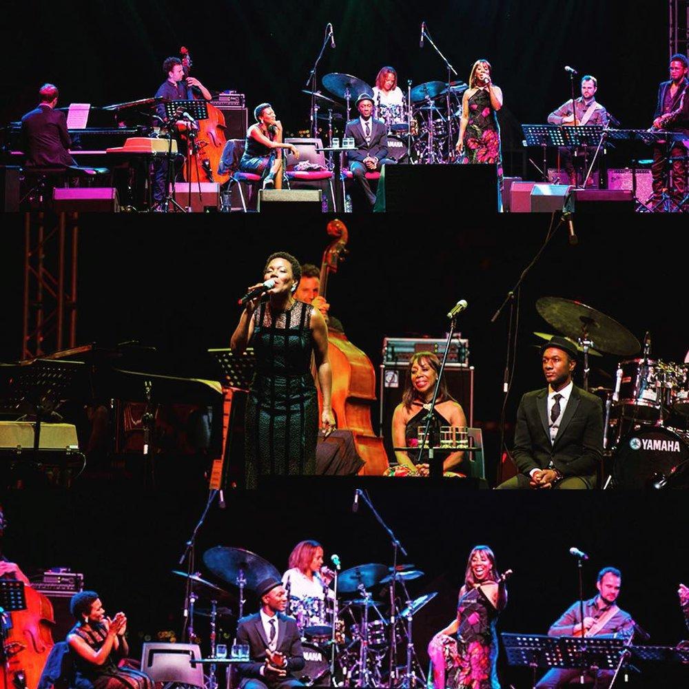 #onstage #istanbulcazfestivali #singerontheroad #terrilynecarrington #mattstevens #markshim #aaronparks #oletaadams #zackbrown #aloeblacc