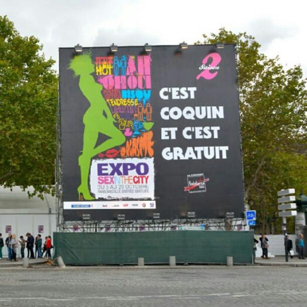 C' est coquin…c' est gratuit… c' est l' #exposexinthecity ! (voix de pompom girl) #bastille Merci @solidaritesida