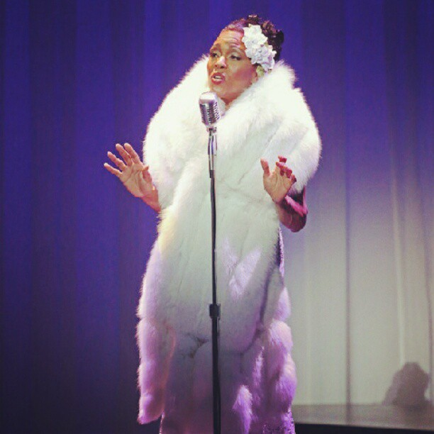 Go see my mom at the #littleshubert www.ladydaythemusical.com GET YOUR TICKETS NOW! #deedeebridgewater as #billieholiday