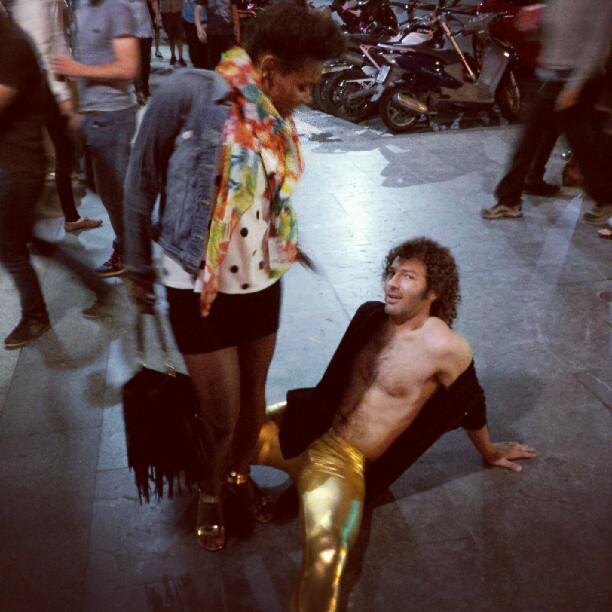 And then I met a man with gold pants. #sansebastianjazz #jazzaldia