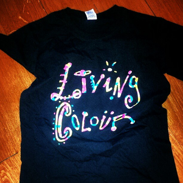 You know you are a #fan when you buy the concert t-shirt. #livingcolour