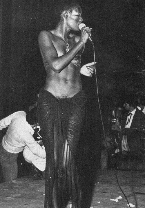 Grace Jones in The Palace, Paris 1978