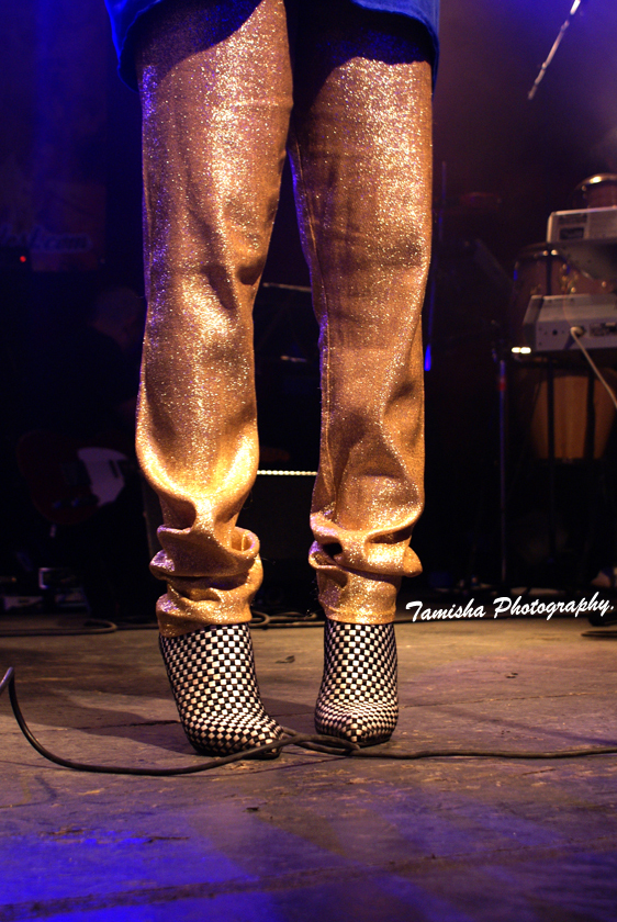 My mom's vintage gold pants x Paul & Betty low boots @ Sankofa Soul Contest