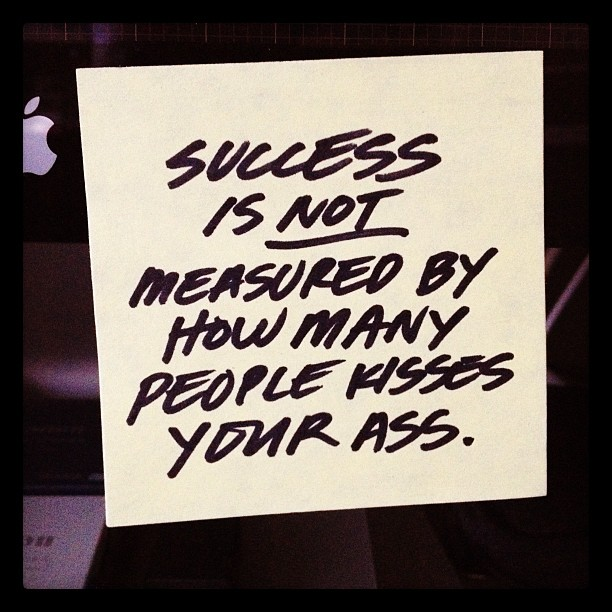THE MEASURE OF SUCESS.