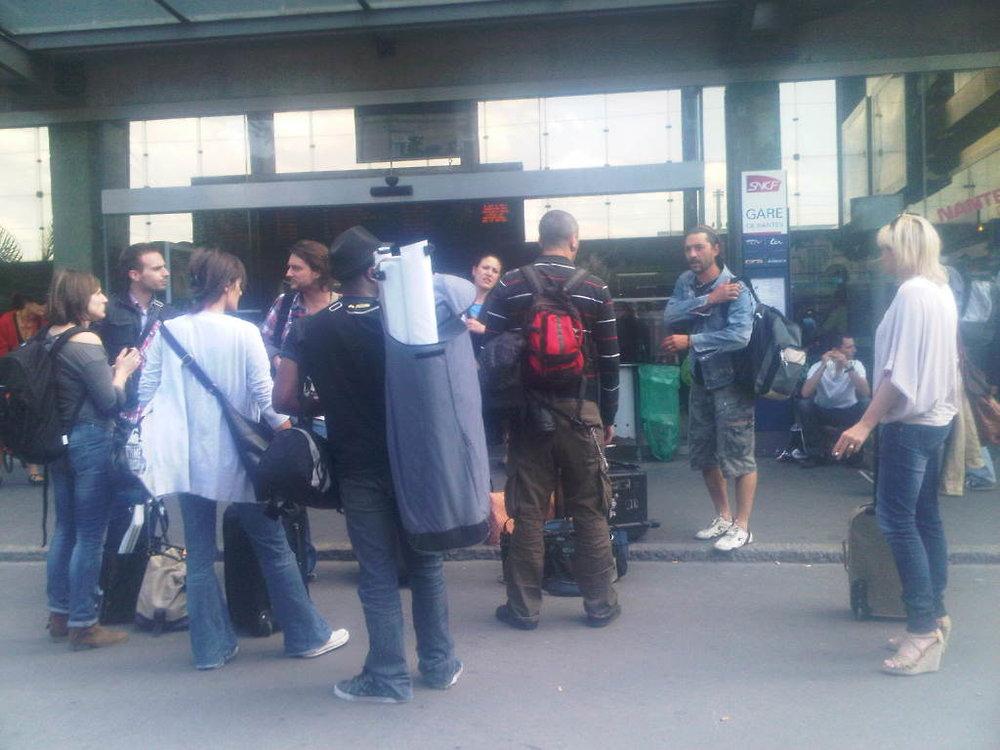 MTV France crew a la gare de Nantes. Shake Ton Booty a L'atlantide ce soir! Venez c'est gratuit!