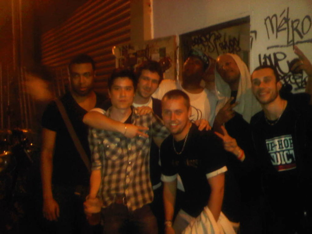 The Cunninlynguists with some of their hot and sweaty fans @Le Point Ephemere, Paris. Great show with Pack FM! @djflipflop