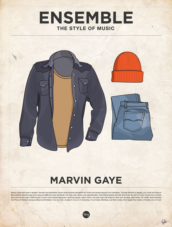 Don't let the clothes make you. And just seeing this ensemble you know that Marvin had effortless style.Because worn by someone else… Well it just would have been somebody else.    mybrainweighsaton :     LIBATIONS