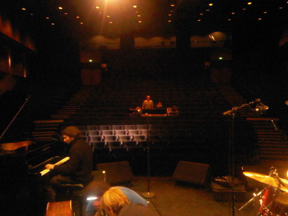 Tonight we are playing here in Coutances… Nice theatre. Kinda big!
