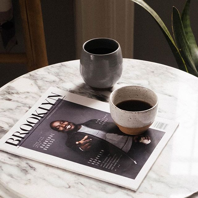 Happy Sunday fam! . The perfect slow morning start ☕️+📰over here at HQ featuring our white and gray winter mugs. We hope you're feeling rested and recharged for your week ahead!