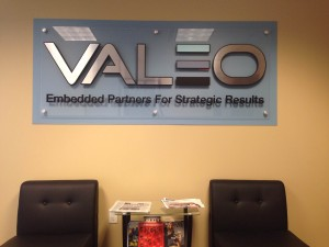 The new VALEO sign is