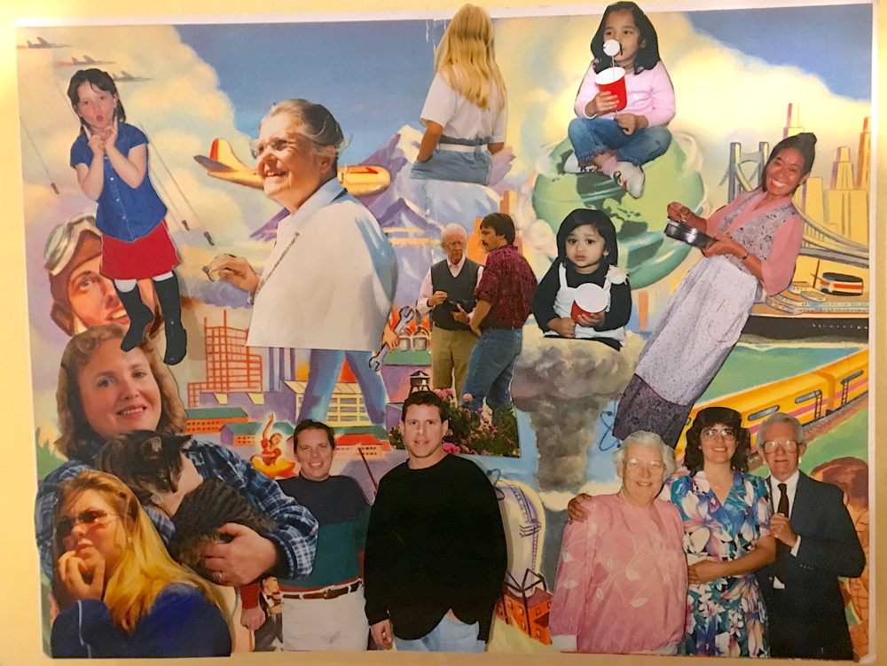 Went to Oakland's Depot for Creative Reuse, picked up some photos of strangers, made this collage called  We All Know Eachother