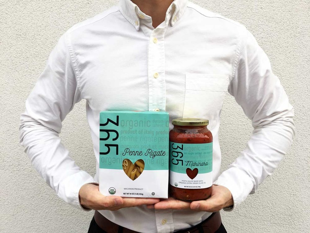 Whole Foods 365 rebranded packaging.