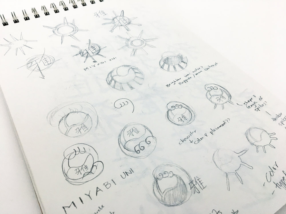Brainstorm sketches.