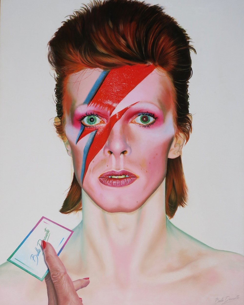 DAVID BOWIE, oil on canvas, 50x65 cm.