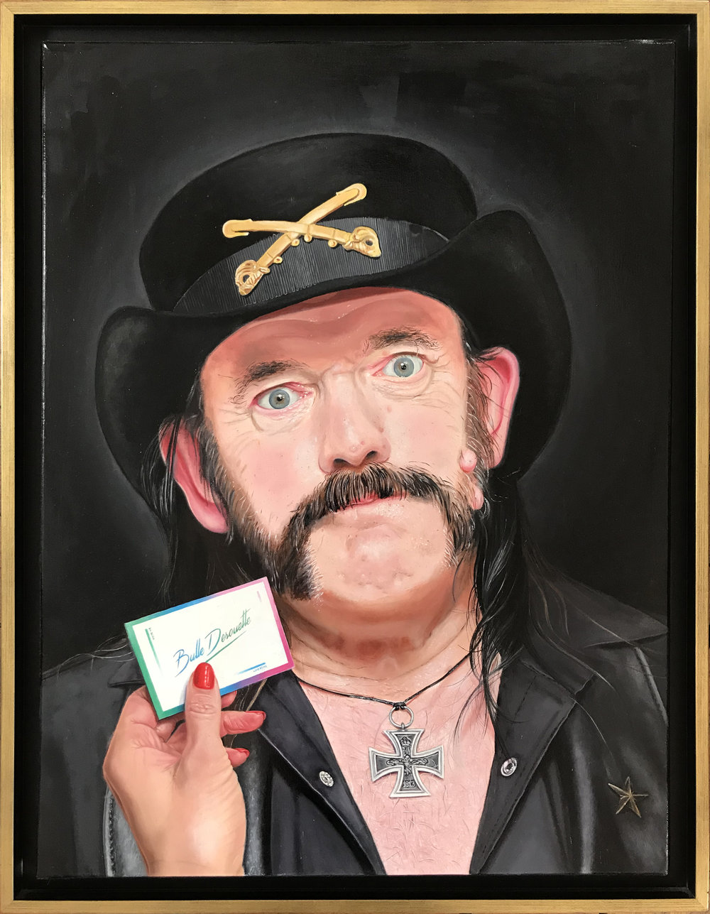 Lemmy Kilmister, Oil on canvas 40 x65 cm